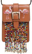 RED Valentino Flamingo Leather Bag W/ Beaded Fringe