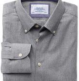 Charles Tyrwhitt Extra slim fit button-down collar business casual grey shirt