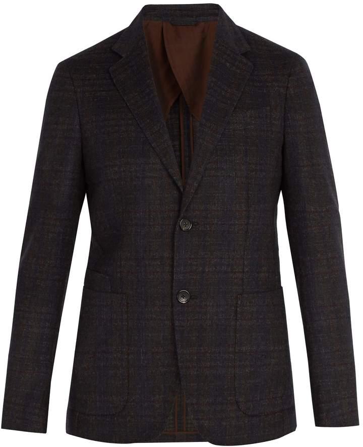 Ermenegildo Zegna Single-breasted checked wool blazer