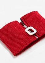 MANGO Zipped knit collar