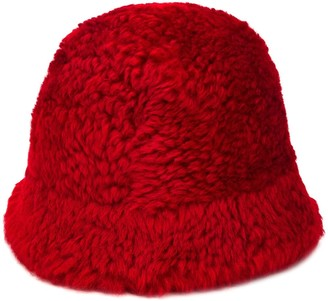 Holland & Holland Curved Shearling Hat