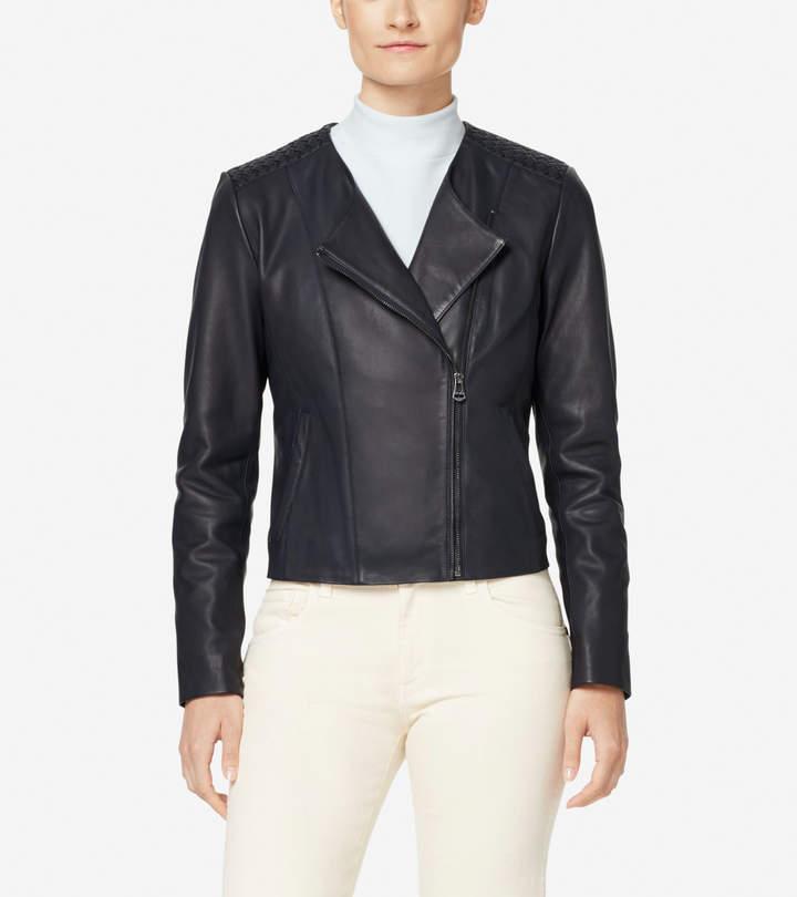 12edcbefa Braided Leather Lambskin Jacket