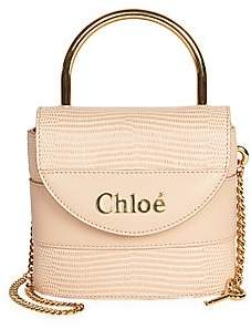 Chloé Women's Small Aby Lizard-Embossed Leather Top Handle Bag