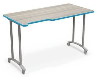 "Manufactured Wood 37"" Multi-Student Desk MooreCo Edge Finish: Blue, Size: 37""H X 60""W X 30""D"