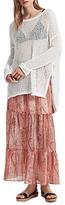 French Connection Malika Sheer Paisley Maxi Skirt, Apricot Multi