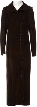 Fendi Brown Suede Coats