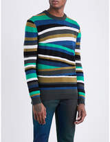 Kenzo Broken Striped Wool-blend Jumper
