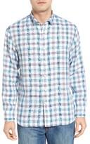 Tommy Bahama Men's Thira Check Linen Sport Shirt