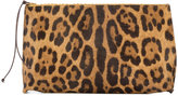 B May leopard print make up bag