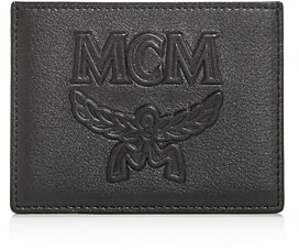 MCM Coburg Injection Embossed Leather Card Case