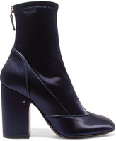Laurence Dacade Melody Stretch-satin Boots - Navy