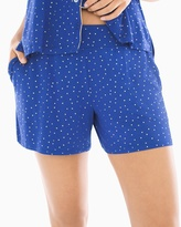 Soma Intimates Cool Nights Full Tap Pajama Shorts Festivity Dot Gold Foil