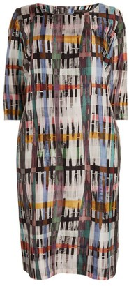 Marina Rinaldi Abstract Print Dress