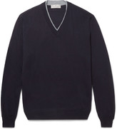 Canali - Contrast-tipped Merino Wool Sweater