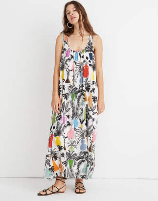 Madewell WHIT Ann Maxi Dress in Potted Plant Print