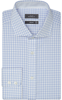 John Lewis Non Iron Tailored Fit Gingham Shirt, Blue