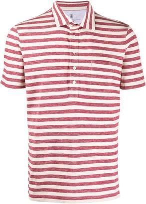 Brunello Cucinelli two tone polo shirt