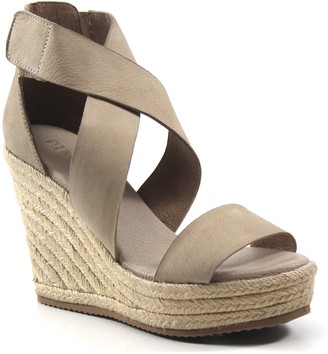 Diba True Leather Strap Espadrille Wedges - Hyber Nate