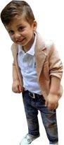 Leegor 3pcs Kids Baby Boy Gentleman Coat+Shirt+Jeans Pants Trousers Outfits Set