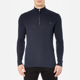 Gant Men's Cotton Texture Half Zip Knitted Jumper