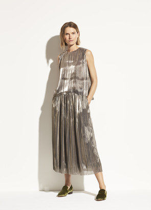 Vince Iridescent Pleated Culotte