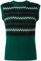 Marni geometric knitted tank