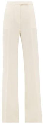 Gabriela Hearst Leda High-rise Wool-crepe Flared Trousers - Ivory