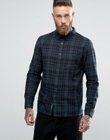 Pull&Bear Checked Shirt In Green In Regular Fit