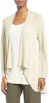 Eileen Fisher Women's Drape Front Wool Cardigan