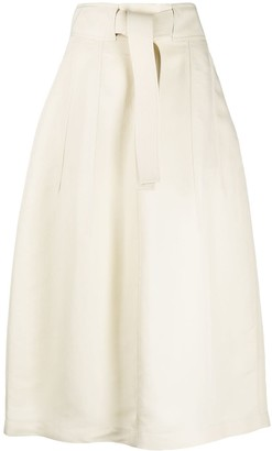 Jil Sander tied-waist A-line skirt