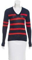 Suno Striped V-Neck Sweater