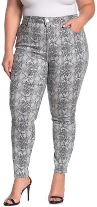 Seven7 High Rise Animal Print Skinny Jeans (Plus Size)