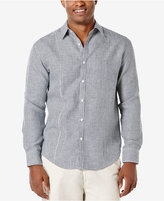 Cubavera Men's Gingham 100% Linen Long-Sleeve Shirt