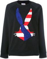 Iceberg logo appliqué sweatshirt - women - Cotton/Polyamide/Spandex/Elastane - 38