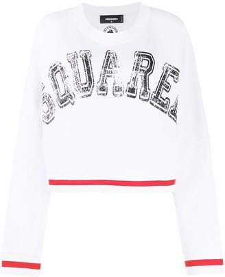 DSQUARED2 Logo-Print Loose-Fit Sweatshirt