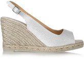 Castaner Metallic twill espadrille wedge slingbacks