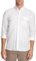 Saturdays Nyc Herringbone Texture Slim Fit Button Down Shirt
