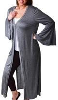 24/7 Comfort Apparel Plus-Size Maxi Jacket