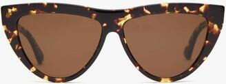 Bottega Veneta Cat-eye Tortoiseshell-acetate Sunglasses - Tortoiseshell