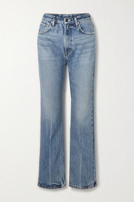 Gold Sign The Martin High-rise Straight-leg Jeans - Light denim