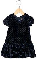 MonnaLisa Girls' Velvet Polka Dot Dress w/ Tags