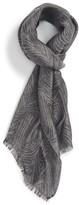 Lanvin Men's Tiger Stripe Linen Blend Scarf