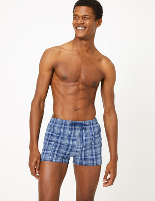 Marks and Spencer Quick Dry Checked Swim Shorts