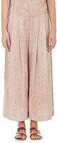 Raquel Allegra Women's Silk Matelassé Wide-Leg Pants
