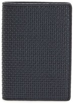Ermenegildo Zegna Men's Woven Leather Wallet - Blue
