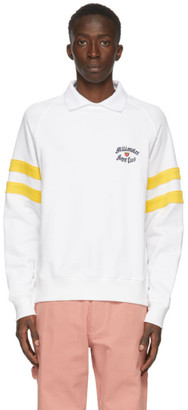 Billionaire Boys Club White Spread Collar Crewneck Sweatshirt