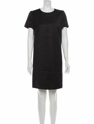 Judith & Charles Crew Neck Mini Dress Black