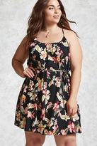 Forever 21 FOREVER 21+ Plus Size Tropical Floral Dress