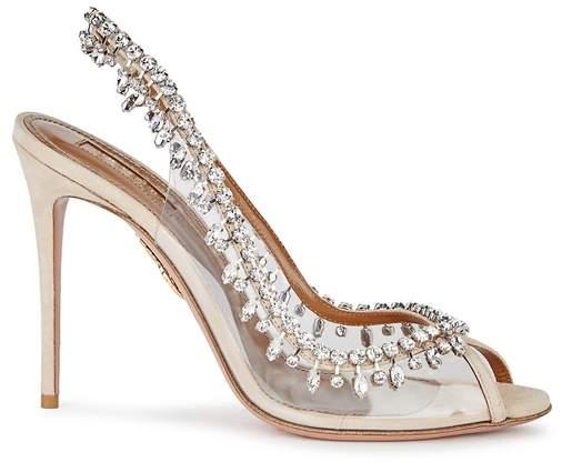 Aquazzura Temptation Embellished Suede Sandals