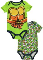 "Teenage Mutant Ninja Turtles TMNT Baby Boys' ""Turtle Chest"" 2-Pack Bodysuits"